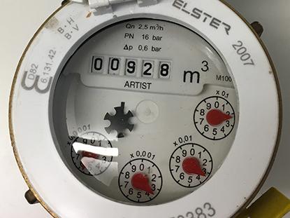 Bild av en vattenmätare